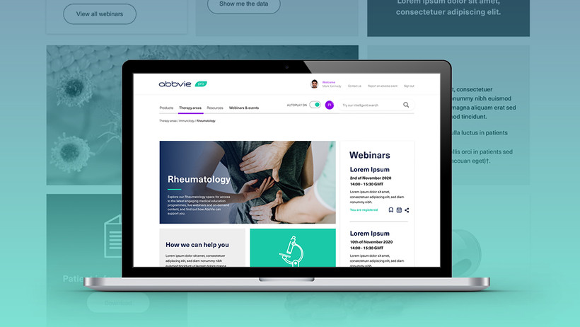 Section landing page
