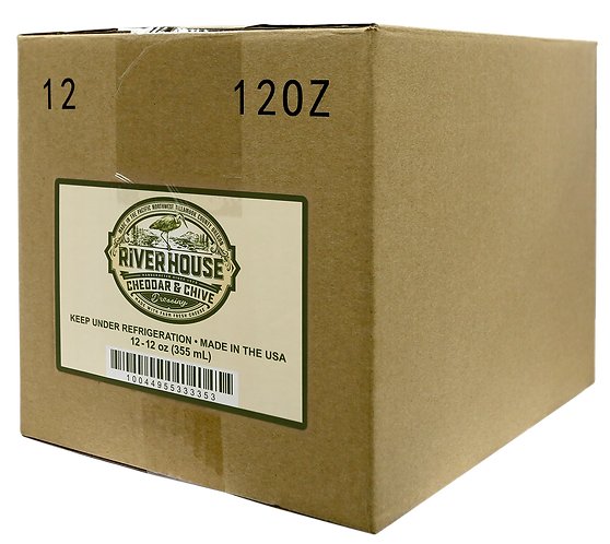 12 oz Riverhouse Cheddar and Chive Dressing Case