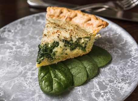 Spinach + Bleu Cheese Quiche