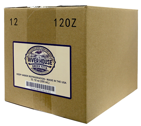 12 oz Riverhouse Greek Feta Dressing Case