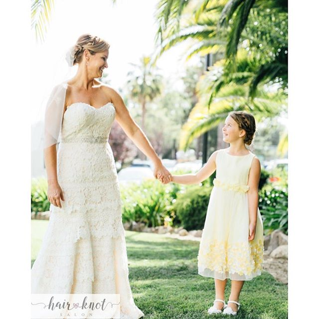 When mommy is getting married 👭💕 #hairknotsalon #judyle #berkeley 📷 by _comeplum