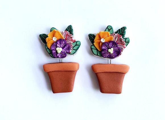 Summer Blooms - 001 (Terra-cotta Pot)
