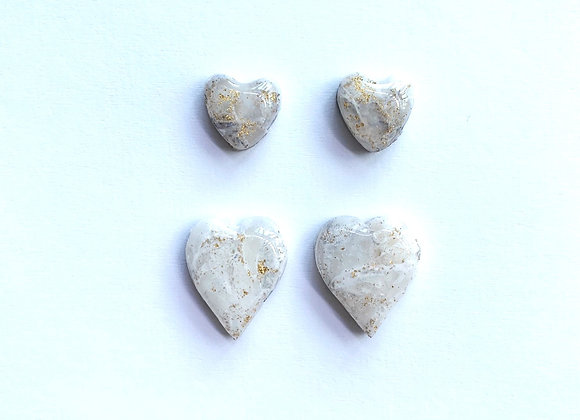 Rock Candy - 004(Stud Pack) - Creamy White with Gold