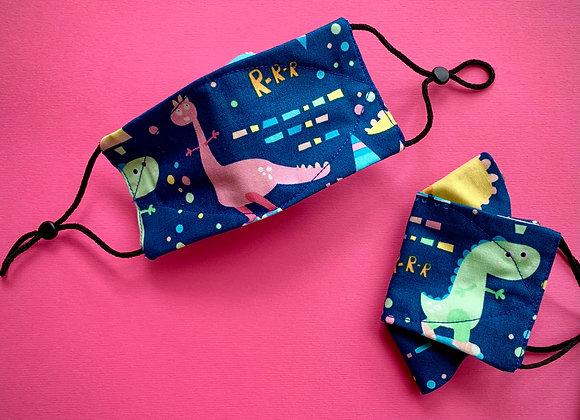 Kids Fabric Mask - Dino