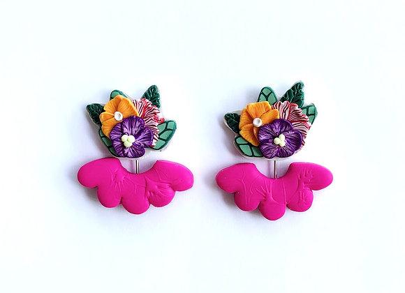 Summer Blooms - 001 (Fushsia Pink Fringe)