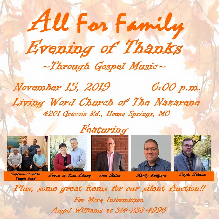All For Family Evening of Thanks