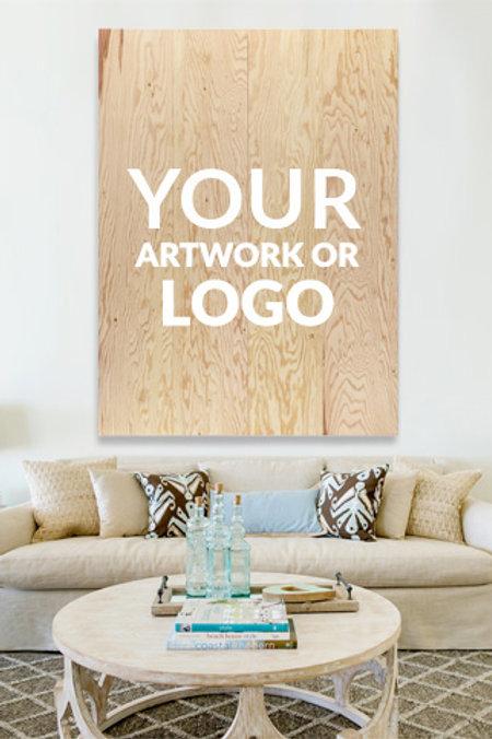 Large Wood Sign