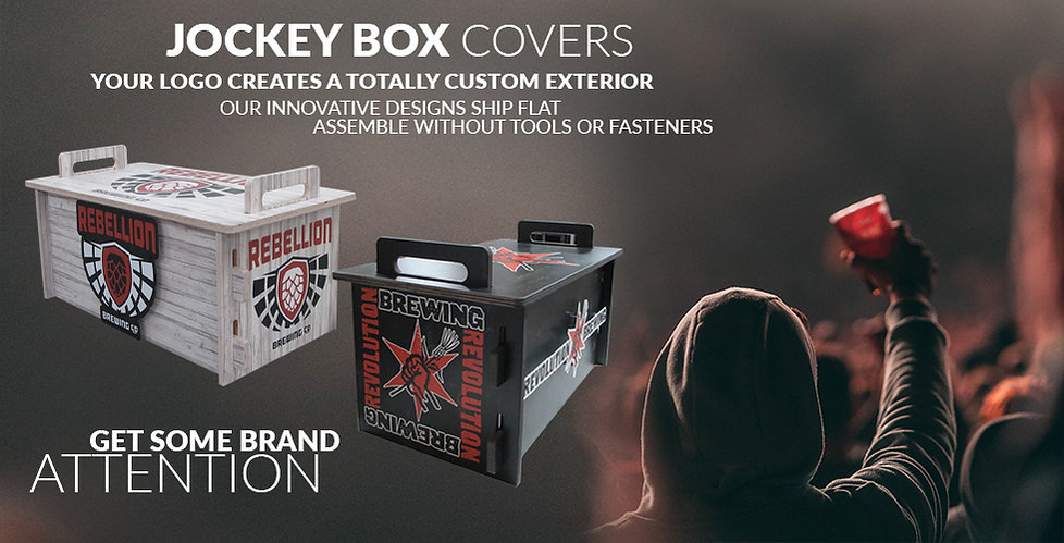 Jockey Box Cover at Event with Man and Party Cup
