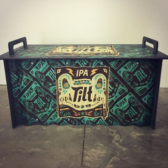 Custom Corrugated Metal Jockey Box Cover we Made for Tilt IPA