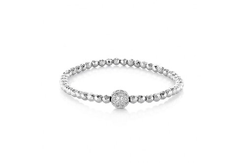 Silver Ball Stretch Bracelet