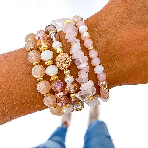 Glam Pink Bracelet Stack