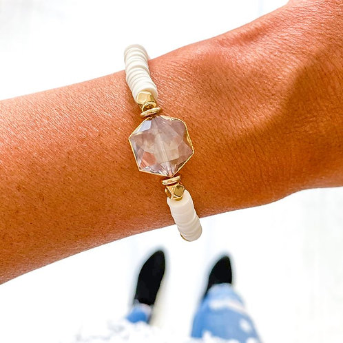Heishi Crystal Bracelet