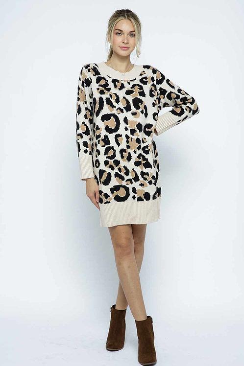Leopard Sweater Dress/Tunic