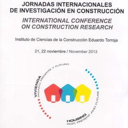JORNADAS INTERNACIONALES DE INVESTIGACION EN CONSTRUCCION