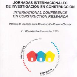 JORNADAS INTERNACIONALES DE INVESTIGACION EN LA CONSTRUCCION
