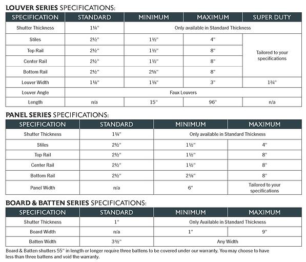 Catalog - Shutter Specifications ROCKBRI