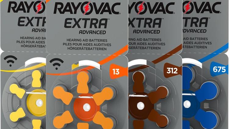 10 pack (60 batteries) - Rayovac Hearing Aid Batteries