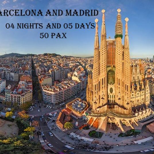 Barcelona and Madrid 04 nights and 05 da