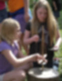 fifth-grade students using pump drills at LAW 2013