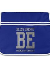 messenger bag - royal blue with silver.j