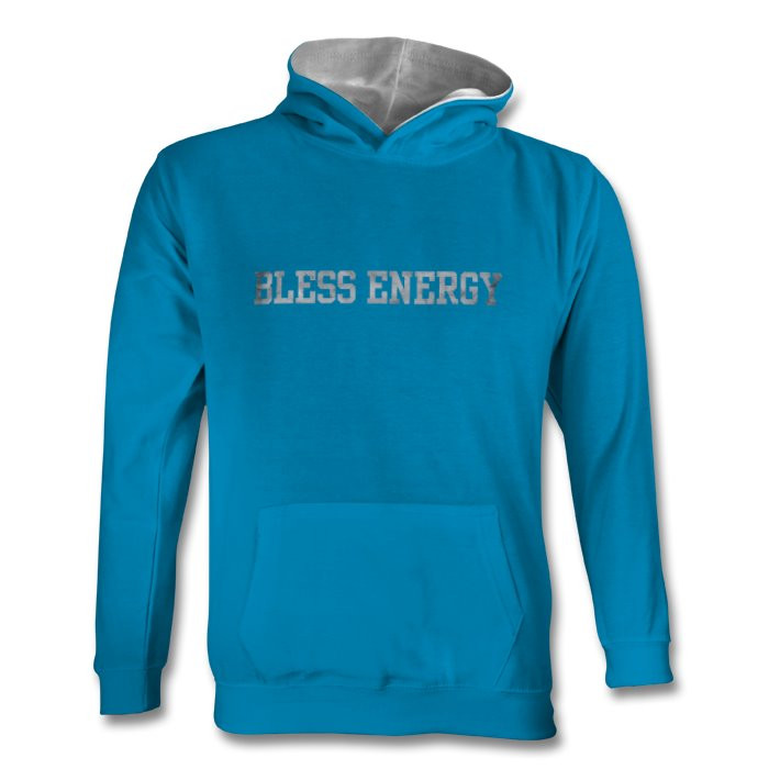 Youth teal BE hoodie rock font front.jpg