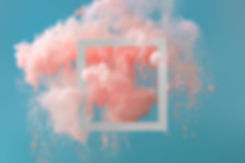 Abstract pastel coral pink color paint w