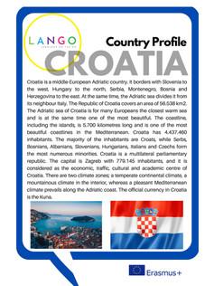 Country Profile Croatia