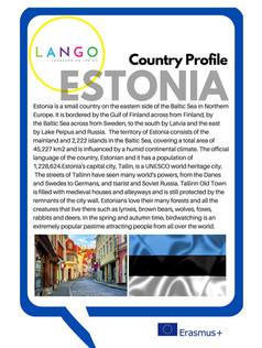 Country Profile Estonia