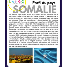Country Profile Somalia