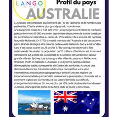 Country Profile Australia