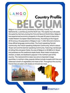 Country Profile Belgium