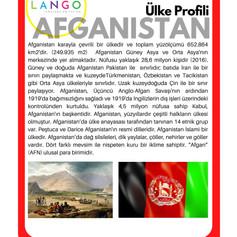 Country Profile AFGAHNAISTAN