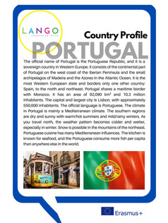 Country Profile Portugal