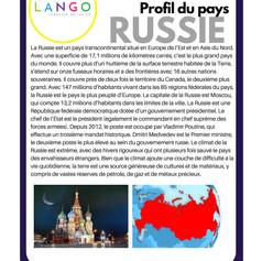 Country Profile Russia