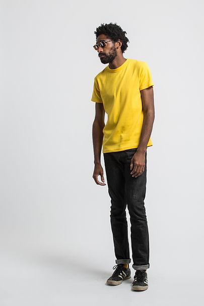 t shirt français maison cornichon jaune cali