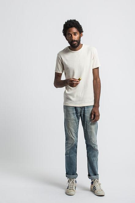 t shirt français maison cornichon coton naturel