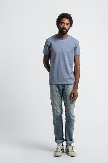 french t-shirt maison cornichon lotus bleu
