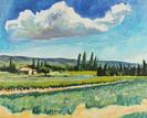 Landschap bij Valréas