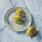 Stilleven met drie citroenen