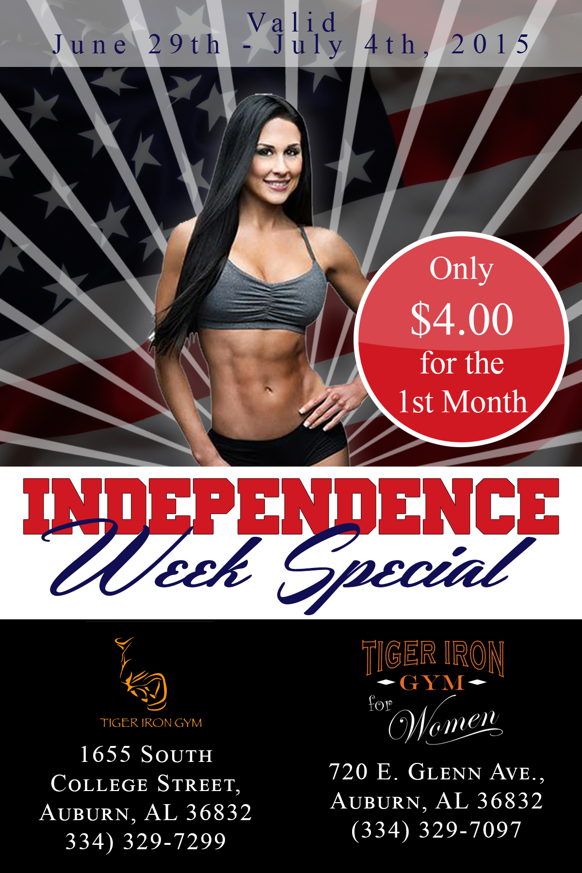 Tiger Iron Indepence Flyer
