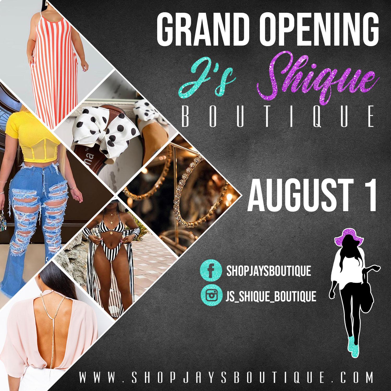 J's Shique Boutique Flyer
