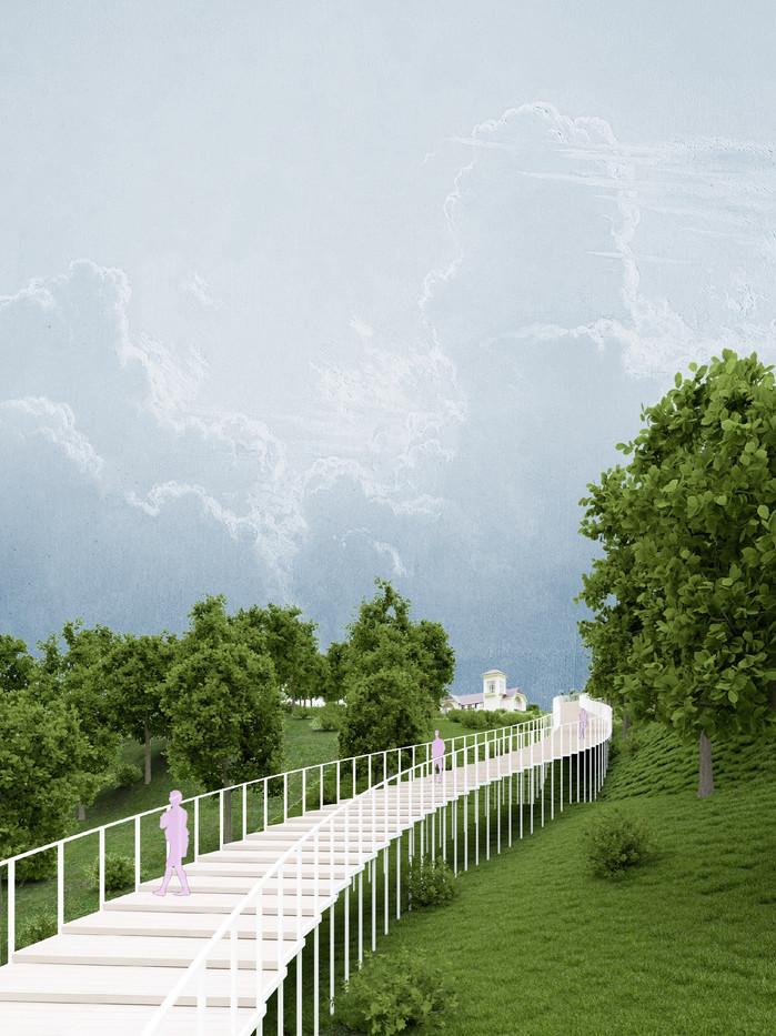 Лестница в Загородном парке в  Самаре   son architecture
