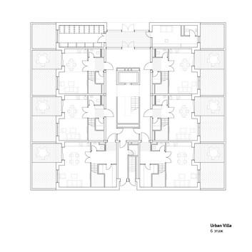 1 этаж городской виллы   son architecture