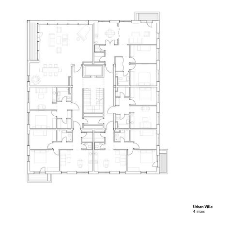 4 этаж городской виллы | son architecture