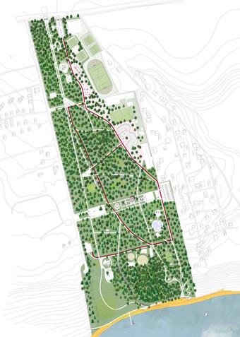 Генплан Загородного парка в  Самаре | son architecture