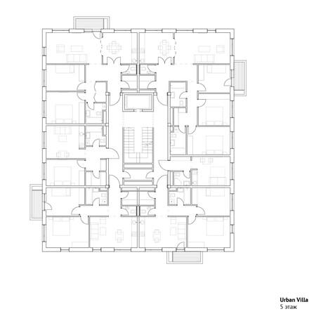 5 этаж городской виллы | son architecture