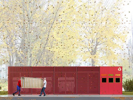 Площадка для сбора мусора | son architecture