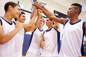 Youth Basketball Team training coaching