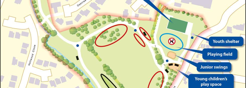 Map of Woodlands Park