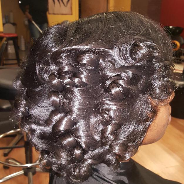 Silk Press & Curl